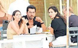 Kenan İmirzalıoğlu ve Sinem Kobal'ın yemek keyfi Yarıda Kaldı