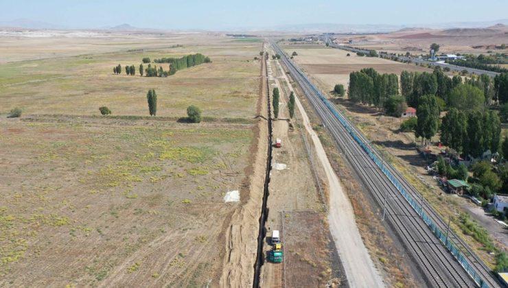 İvedik – Polatlı içme suyu hattının 21 km tamamlandı