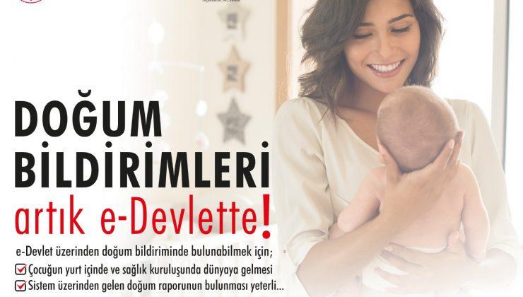 Doğum Bildirimi Başvurusu e-Devlet Üzerinden Yapılabilecek